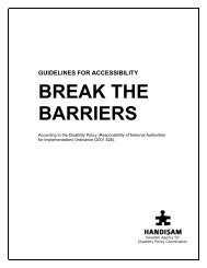 Guidelines for accessibility - Break the Barriers - Handisam