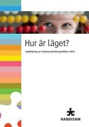 Uppföljning av funktionshinderspolitiken 2012 - Handisam