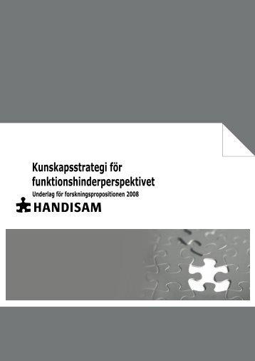 Handisams kunskapsstrategi i pdf-format (279 kB, nytt fönster)