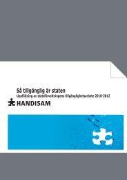 Så tillgänglig är staten 2010-2012 i pdf-format (1 MB ... - Handisam