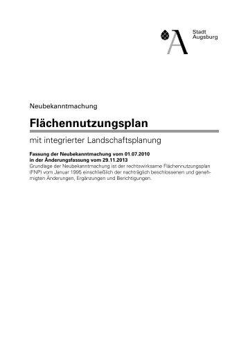 Erläuterungen zum Flächennutzungsplan - Stadt Augsburg