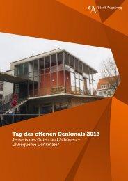 Tag des offenen Denkmals 2013 - Stadt Augsburg
