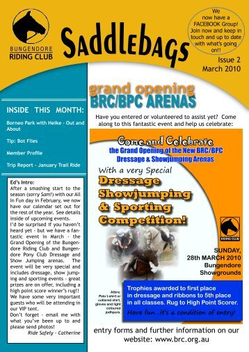 March - Bungendore Riding Club