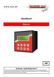 Handbuch Beaver DE Achtung - Beckmann und Egle