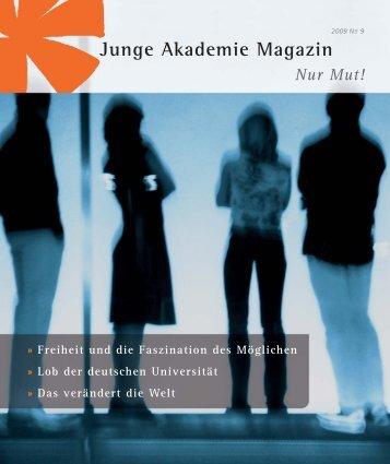Volltext der Ausgabe (pdf, 1 MB) - Die Junge Akademie