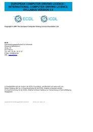ECDL_ICDL Syllabus Version 5 0 ECDL Core DE - DLGI
