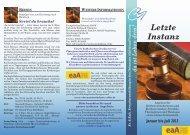 Letzte Instanz - Evangelische und Katholische Erwachsenenbildung ...