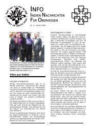 INDIEN NACHRICHTEN FÜR OBERHESSEN - Evangelische und Katholische ...