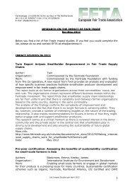 Overview document june 2012 - European Fair Trade Association