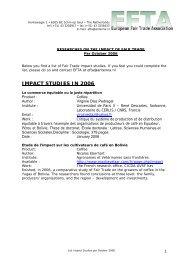 IMPACT STUDIES IN 2006 - European Fair Trade Association