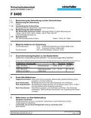 EG - Sicherheitsdatenblatt