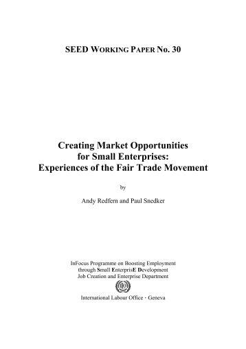 Creating Market Opportunities for Small Enterprises - European Fair ...
