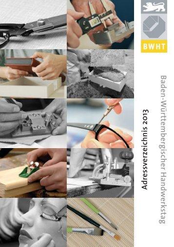 BWHT-Adressverzeichnis 2013 - Baden-Württembergischer ...