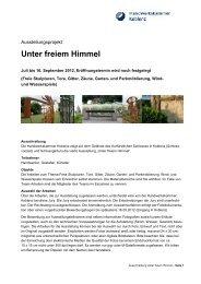 Unter freiem Himmel - Galerie Handwerk Koblenz