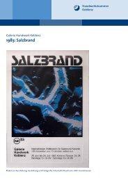 1983: Salzbrand - Galerie Handwerk Koblenz