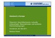 Veranstaltung Handwerk in Europa - Landesvertretung der ...