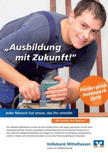 Förderpreis Handwerk - Kreishandwerkerschaft Marburg