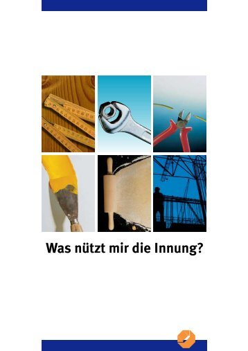 Was nützt mir die Innung? - Kreishandwerkerschaft Marburg