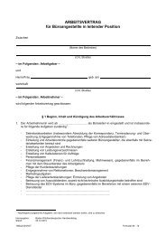 ARBEITSVERTRAG für Büroangestellte in leitender Position