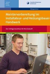 Meistervorbereitung im Installateur- und Heizungsbauer-Handwerk