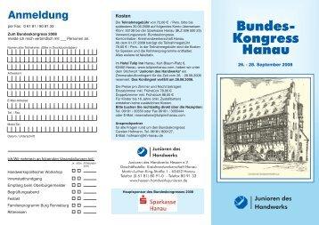 Anmeldung und Programmablauf - handwerksblatt.de - Handwerk