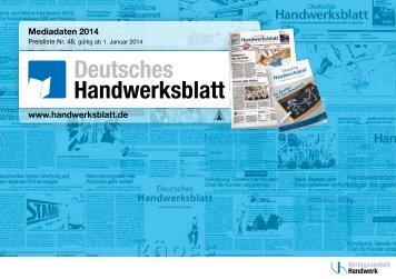 Mediadaten 2014 - handwerksblatt.de - Handwerk
