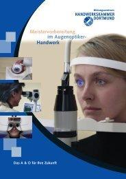 Meistervorbereitung Augenoptiker - Handwerkskammer Dortmund