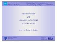 WISSENSFORUM - Brandschutz Planung Klingsch GmbH