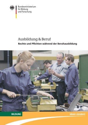 Ausbildung & Beruf - Alle Achtung!