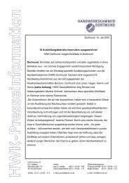 Dortmund, 10. Juli 2001 18 Ausbildungsbetriebe besonders ...