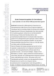 Erste Freisprechungsfeier für Gerüstbauer Zwei Gesellen von der ...