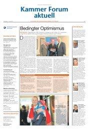 Bedingter Optimismus - Handwerkskammer Dortmund