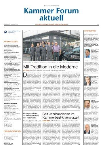 Mit Tradition in die Moderne - Handwerkskammer Dortmund