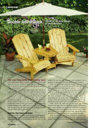 Double Adirondack - Handyman Club of America