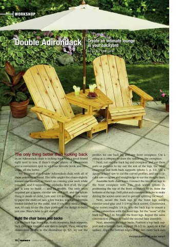 Double Adirondack - Handyman Club of America