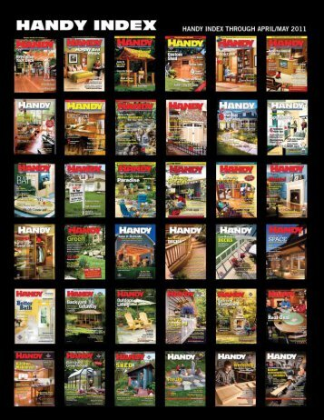 to download a pdf of the Index. - Handyman Club of America