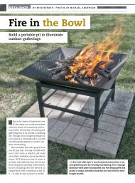 Fire in the Bowl - Handyman Club of America