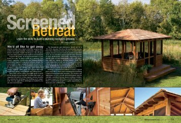 screened retreat learn the skills to build a stunning backyard