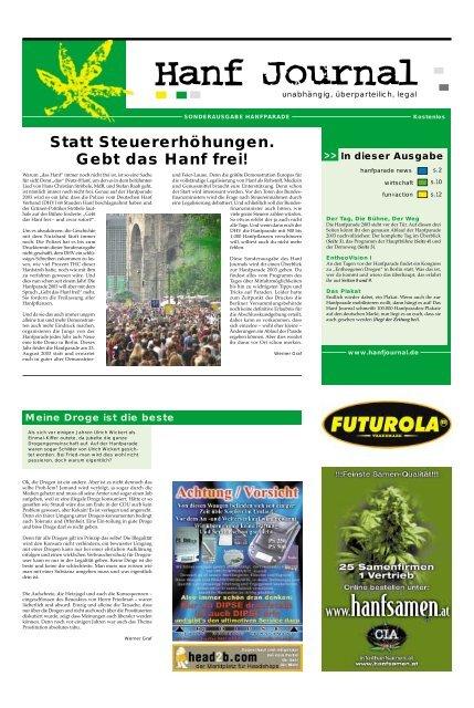 Sonderausgabe zur Hanfparade 2003 - Hanfjournal