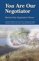 Negotiations Primer - Hanford Site