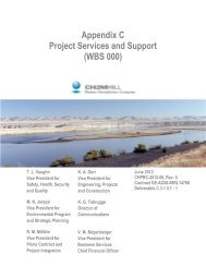 Appendix C Project Services and Support (WBS 000) - Hanford Site