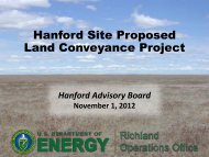 Hanford Site Proposed Land Conveyance Project