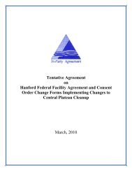 Tentative Agreement on Hanford Federal Facility ... - Hanford Site
