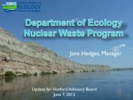 HAB Ecology Update - Hanford Site