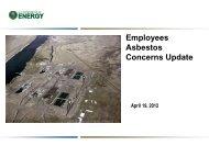 Attachment 1: Employees Asbestos Concerns Update - Hanford Site