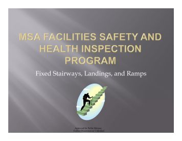 Safety Inspection Check List Health Care Facilities
