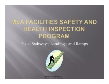 Fixed stairways - Conducting Safety and Health Hazard Inspections