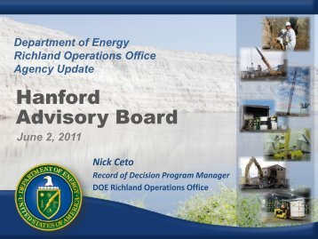 DOE-Richland Operations Office Update - Hanford Site