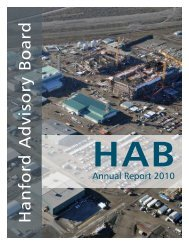Annual Report FY 2010 - Hanford Site