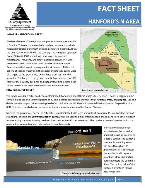 Hanford's N Area Fact Sheet - Hanford Site